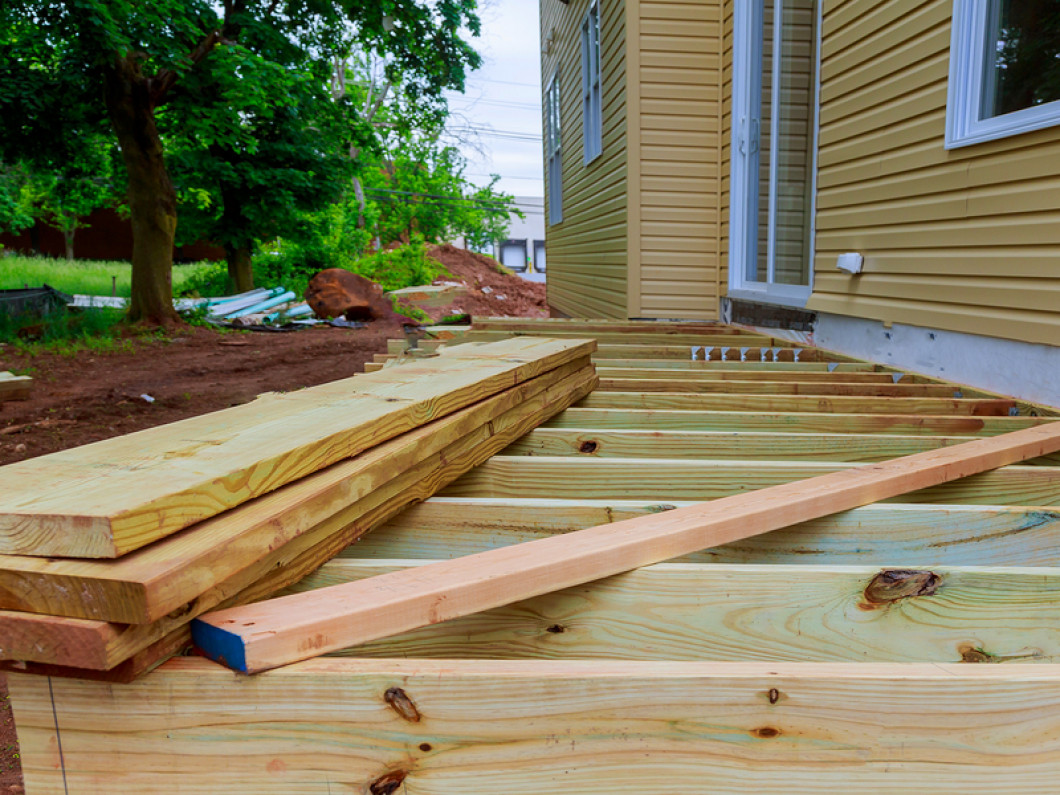 We use Trex products to build our custom decks